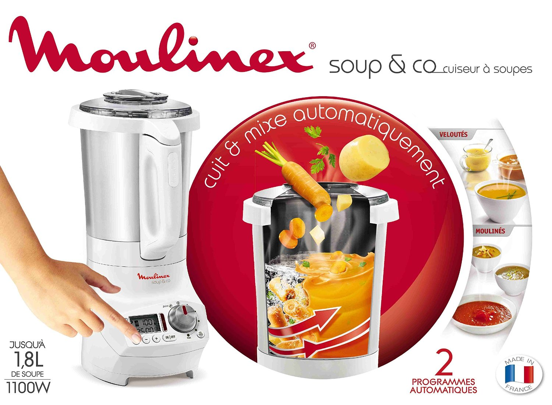 Blender chauffant moulinex soup co soupes smoothies - Recette pour blender chauffant ...