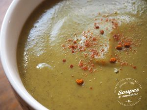 Potage aux choux de Bruxelles et lentilles vertes
